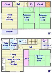 [一戸建] 兵庫県神戸市垂水区平磯2丁目 の賃貸【兵庫県 / 神戸市垂水区】の間取り