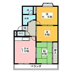 ドミールブラン[3階]の間取り