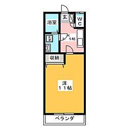 グリーンハイツ高橋 No2[1階]の間取り