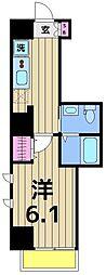 朱雀楼 東京[6階]の間取り
