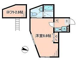オリオン山手I[2階]の間取り