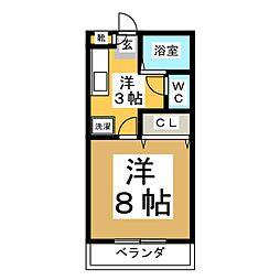 スパークル山崎[1階]の間取り