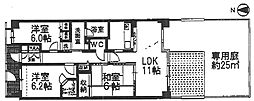 「藤和ライブタウン山科」[1階]の間取り