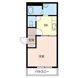 滋賀県大津市石山寺2丁目の賃貸アパートの間取り