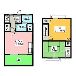 [テラスハウス] 愛知県名古屋市天白区向が丘2 の賃貸【愛知県 / 名古屋市天白区】の間取り