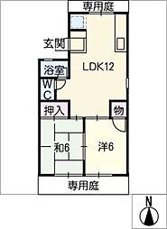 Square House[1階]の間取り