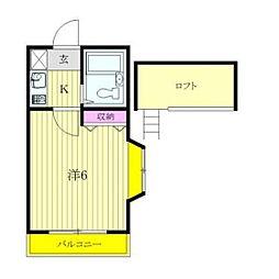 ハイツリーアパートメント[201号室]の間取り