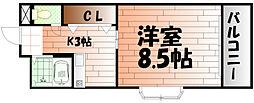 ピュアシティ小倉[1109号室]の間取り