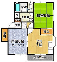 松本ハイツA[201号室]の間取り