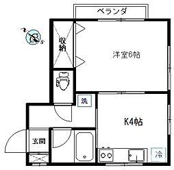 ひまわりハウス[202号室]の間取り