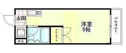 大阪府枚方市養父西町の賃貸マンションの間取り