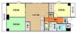 ミョーコウサンロードマンション[701号室]の間取り