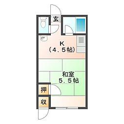 第2水野アパート[5号号室]の間取り