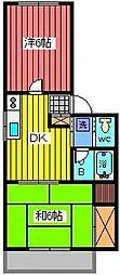 埼玉県さいたま市緑区太田窪1丁目の賃貸マンションの間取り