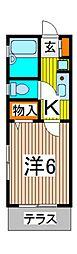 クレスト桜田[1階]の間取り