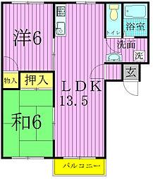 アークヒル・カシワ[2階]の間取り