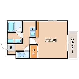 兵庫県尼崎市東園田町9の賃貸アパートの間取り