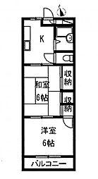 阿川マンション[3階]の間取り