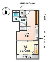 愛知県名古屋市中村区道下町5丁目の賃貸マンションの間取り