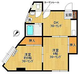 第1広田マンション[4階]の間取り