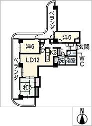アンビックス志賀ストリートタワー 1101[11階]の間取り