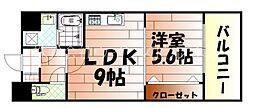 竪町センタービル[7階]の間取り