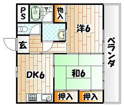 グリーンハイム[4階]の間取り