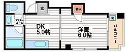 リブロン和泉町[4階]の間取り