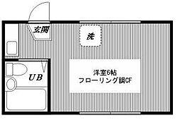 東京都新宿区中井1丁目の賃貸アパートの間取り