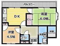 グリーンプラザ[3階]の間取り