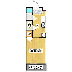 タウニータキノ1[1階]の間取り