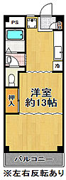 シャロス浅川[3階]の間取り
