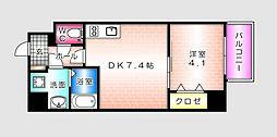 KATAYAMA BLDG  24[402号室]の間取り