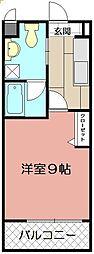 ギャラン吉野町[1009号室]の間取り