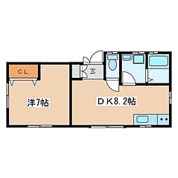 瀬谷区相沢 ラディッシュ101号室[1階]の間取り