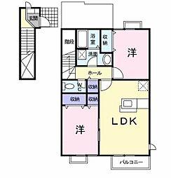 エルコートA[2階]の間取り