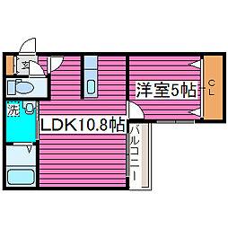 メゾンドフルール[4階]の間取り