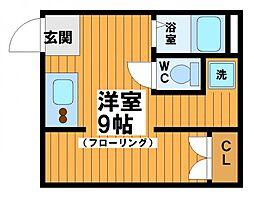 東京都渋谷区幡ヶ谷2丁目の賃貸アパートの間取り