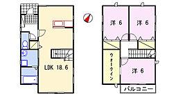 [一戸建] 兵庫県姫路市飾磨区今在家4丁目 の賃貸【/】の間取り