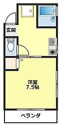 愛知県豊田市平芝町8丁目の賃貸アパートの間取り