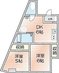 第1広田マンション[3階]の間取り