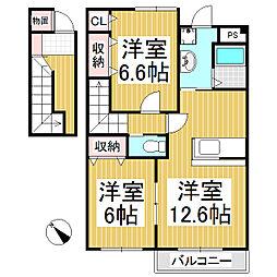ラクーア[2階]の間取り