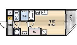 ロイヤルレジデンス新大阪[3階]の間取り