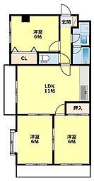 K'sマンション[401号室]の間取り