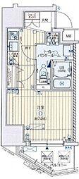 Osaka Metro御堂筋線 天王寺駅 徒歩13分の賃貸マンション 9階1Kの間取り