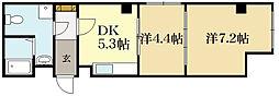 D's LIBRA[4階]の間取り