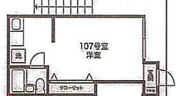 東京都世田谷区北沢5丁目の賃貸アパートの間取り