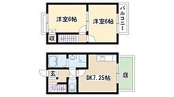 [テラスハウス] 愛知県名古屋市緑区四本木 の賃貸【/】の間取り