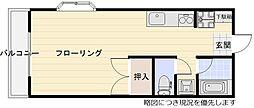 大阪府茨木市宇野辺2丁目の賃貸マンションの間取り