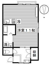 ハイツフレンド広瀬III[1階]の間取り